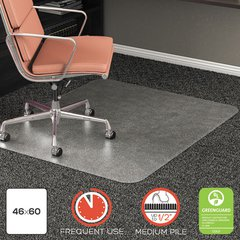 """RollaMat Frequent Use Chair Mat for High Pile Carpet, 46"""" x 60"""", Clear"""