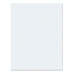 Glue Top Pad, Quad Rule, 8 1/2 x 11, White, 50 Sheets, Dozen