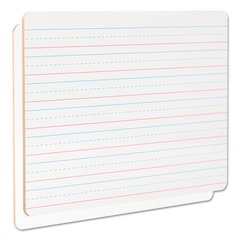 "Lap/Learning Dry-Erase Board, Lined, 11 3/4"" x 8 3/4"", White, 6/Pack"