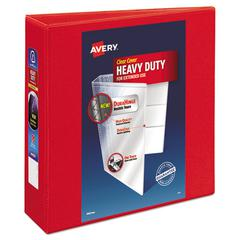 """Heavy-Duty View Binder w/Locking 1-Touch EZD Rings, 3"""" Cap, Red"""