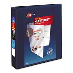 "Heavy-Duty View Binder w/1-Touch EZD Rings, 1 1/2"" Cap, Navy Blue"