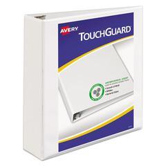 "Touchguard Antimicrobial View Binder w/Slant Rings, 2"" Cap, White"