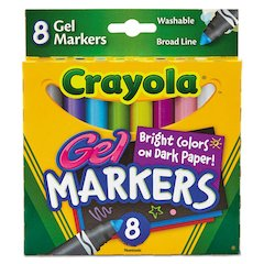 Washable Gel FX Classpack Markers, 8/Set