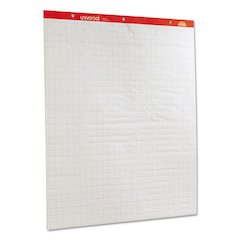 Deluxe Sugarcane Based Easel Pads, 27 x 34, White, 50 Sheet, 2/Pack