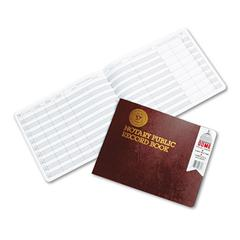 Notary Public Record, Burgundy Cover, 60 Pages, 8 1/2 x 10 1/2