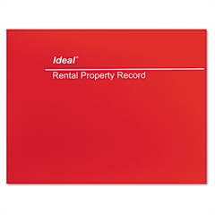 Ideal Rental Property Record Book, 8 1/2 x 11, 60-Page Wirebound Book