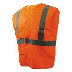 Class 2 Safety Vests, Orange/Silver, Standard