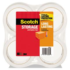 """Storage Tape, 1.88"""" x 54.6yds, 3"""" Core, Clear, 4 Rolls/Pack"""