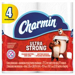 Ultra Strong Bathroom Tissue, 2-Ply, 4 x 3.92, 71 Sheets/Roll, 4 RL/PK, 24 PK/CT