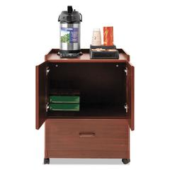 Mobile Deluxe Coffee Bar, 23w x 19d x 30 3/4h, Mahogany