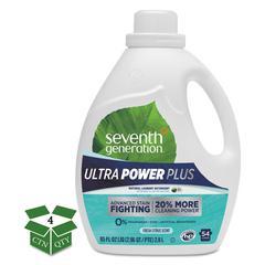Natural Liquid Laundry Detergent, Ultra Power Plus, Fresh, 54 Loads, 95oz, 4/CT