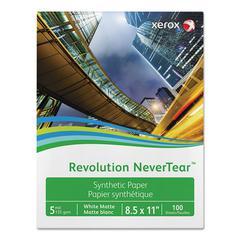 "Revolution NeverTear, 98 Bright, 8 mil, 8.5"" x 11"", White, 500 Sheets/Carton"