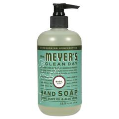Clean Day Liquid Hand Soap, Basil, 12.5 oz, 6/Carton