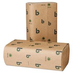 Boardwalk Green Multifold Towels, Natural, 9 1/8 x 9 1/2, 250/Pack, 16 Packs/CT