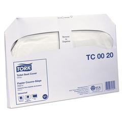 """Toilet Seat Cover, 14.5"""" x 17"""", White, 20/Carton"""
