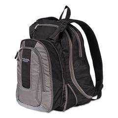 """Expandable Backpack, 14"""" x 8"""" x 19"""", Gray/Black"""