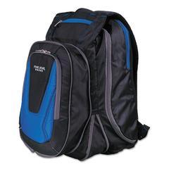 "Expandable Backpack, 14"" x 8"" x 19"", Blue/Black"