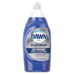 Ultra Platinum Dishwashing Liquid, 34.6 oz Squeeze Bottle, 8/Carton