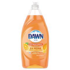 Ultra Antibacterial Dishwashing Liquid, Orange Scent, 28 oz Bottle, 8/Carton