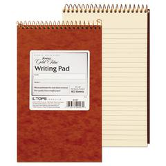 Gold Fibre Retro Wirebound Writing Pad, College/Medium, 5 x 8, Ivory, 80 Sheets