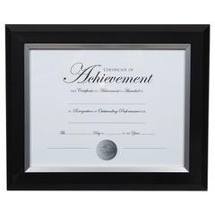 2-Tone Document Frame, 8 1/2 x 11 Insert, Black/Silver Frame