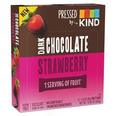 Pressed by KIND Bars, Dark Chocolate Strawberry, 1.34 oz, 12/Pack
