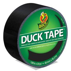 "Colored Duct Tape, 9 mil, 1.88"" x 20 yds, 3"" Core, Black"