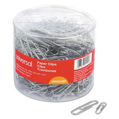 Plastic-Coated Paper Clips, No.1/Jumbo, Silver, 1000/Pack