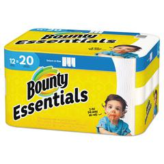 Essentials Select-A-Size Paper Towels, 2-Ply, 104 Sheets/Roll, 12 Rolls/Carton