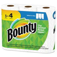 Select-a-Size Paper Towels, 2-Ply, White, 5.9 x 11, 74 SHT/RL, 3 RL/PK, 8 PK/CT