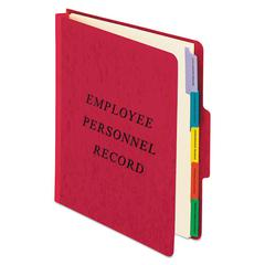 Personnel Folders, 1/3 Cut Top Tab, Letter, Red