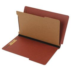 Dual Tab Classification Folder, 2 Sections, Top/End Tab, Legal, Red, 10/BX