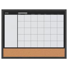 "3-In-1 Combo Planner, 24.21"" x 17.72"", White, MDF Frame"