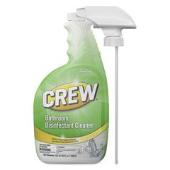 Crew Bathroom Disinfectant Cleaner, Floral Scent, 32 oz Spray Bottle, 4/CT