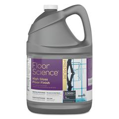 Floor Science Premium High Gloss Floor Finish, Clear Scent, 1 gal Container