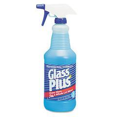 Glass Cleaner, 32oz Spray Bottle, 12/Carton