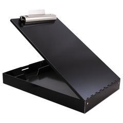 "Redi-Rite Aluminum Storage Clipboard, 1"" Clip Capacity, 8 1/2 x 11 Sheets, Black"