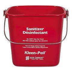 Kleen-Pail, Plastic, Red, 12/Carton