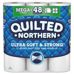 Bathroom Tissue, 2-Ply, 328 Sheets/Roll, 12 Rolls/Pack, 4 Packs/Carton