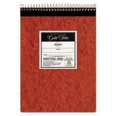 Gold Fibre Retro Wirebound Writing Pad, Legal, 8 1/2 x 11 3/4, Ivory, 70 Sheets