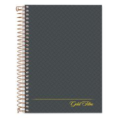Gold Fibre Personal Notebook, College/Medium, 7 x 5, Grey Cover, 100 Sheets