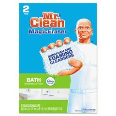 """Magic Eraser Bathroom Scrubber, 4 1/2"""" x 3 1/5"""", 2/Box, 16 Boxes/Carton"""