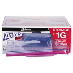 "Double Zipper Storage Bags, 1 gal, 1.75 mil, 10.56"" x 10.75"", Clear, 250/Box"