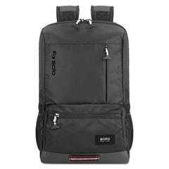 "Draft Backpack, 6.25"" x 18.12"" x 18.12"", Nylon, Black"