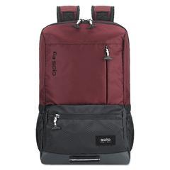 "Draft Backpack, 6.25"" x 18.12"" x 18.12"", Nylon, Burgundy"