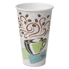 Hot Cups, Paper, 16oz, Coffee Dreams Design, 50/Pack
