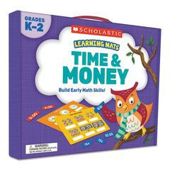 Learning Mats Kit, Time/Money, 120 Cards, Ages 5 and Up