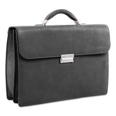 "Milestone Briefcase, Holds Laptops 15.6"", 5"" x 5"" x 12"", Black"