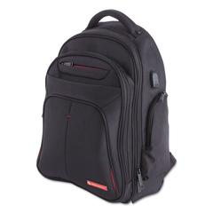 """Purpose 2 Section Business Backpack, Laptops 15.6"""", 8.5"""" x 8.5"""" x 19.5"""", Black"""