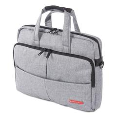 "Sterling Slim Briefcase, Holds Laptops 15.6"", 3"" x 3"" x 11.75"", Gray"